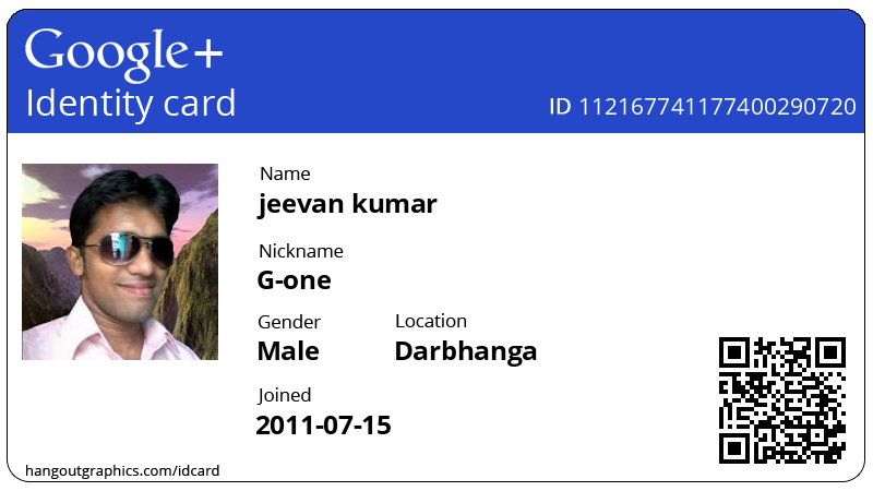 How to Create your own Google+ ID card?